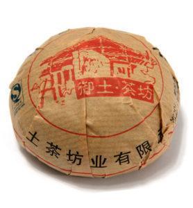 То Ча, прессованный в форму чаши Шен Пуэр 2013 год  № 100