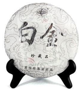 Бай Цзинь Бин 2015 год белый, прессованный чай №600