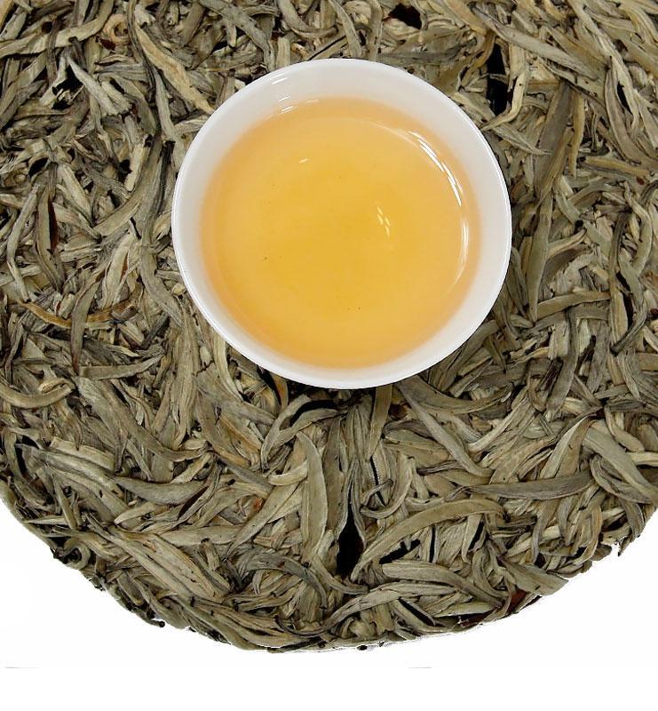 bai puer 600 02 - Бай Хао Бин Пуэр белый прессованный чай (№600)