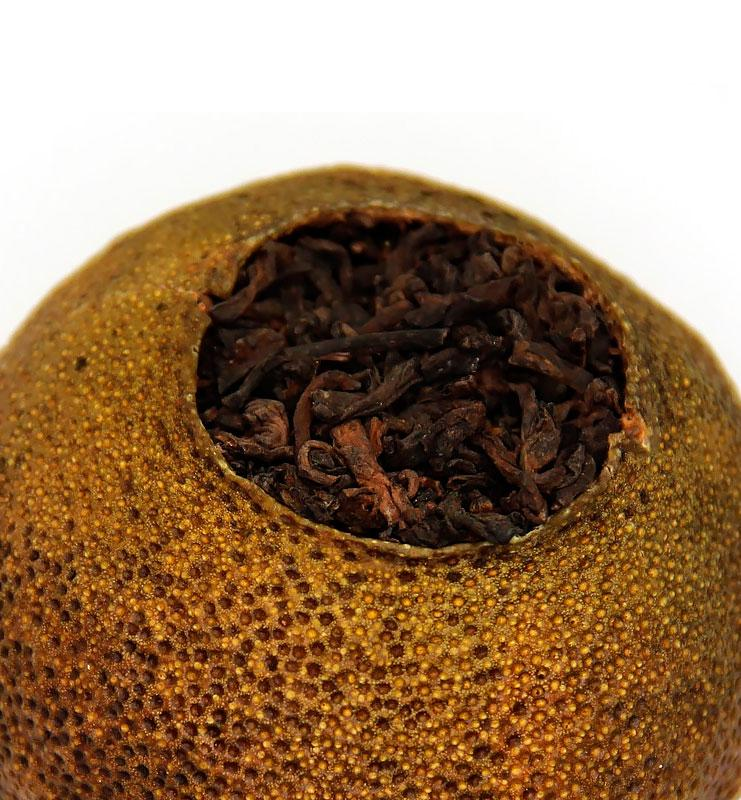 Шу Пуэр рассыпной чай в мандарине (№100)  - фото 3