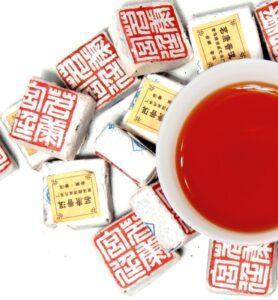 Сяо Бин чай Шу Пуэр мини-кирпичик 2018 год №100 - фото 1