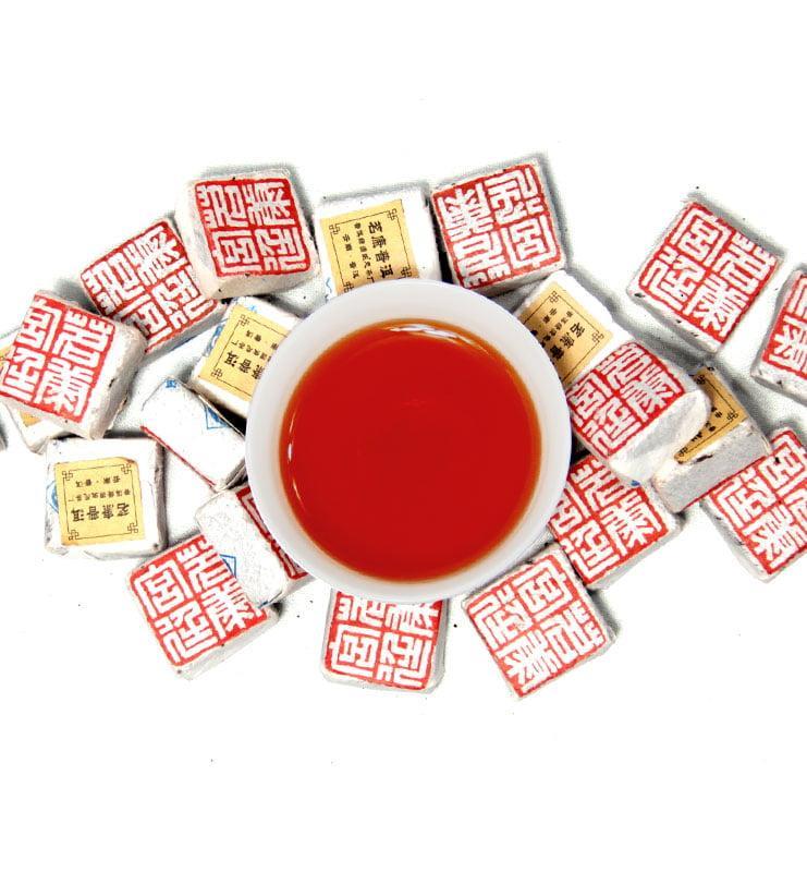 «Сяо Бин» чай Шу Пуэр мини-кирпичик 2018 год №100