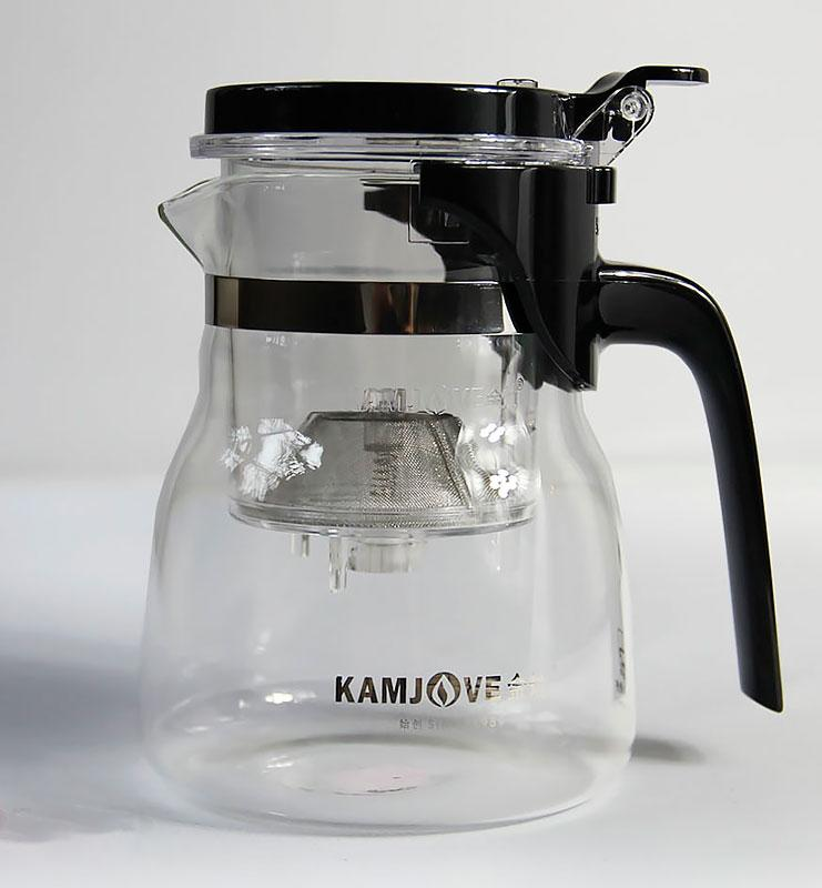 Заварник с ситом (teapot) 600 мл.  - фото