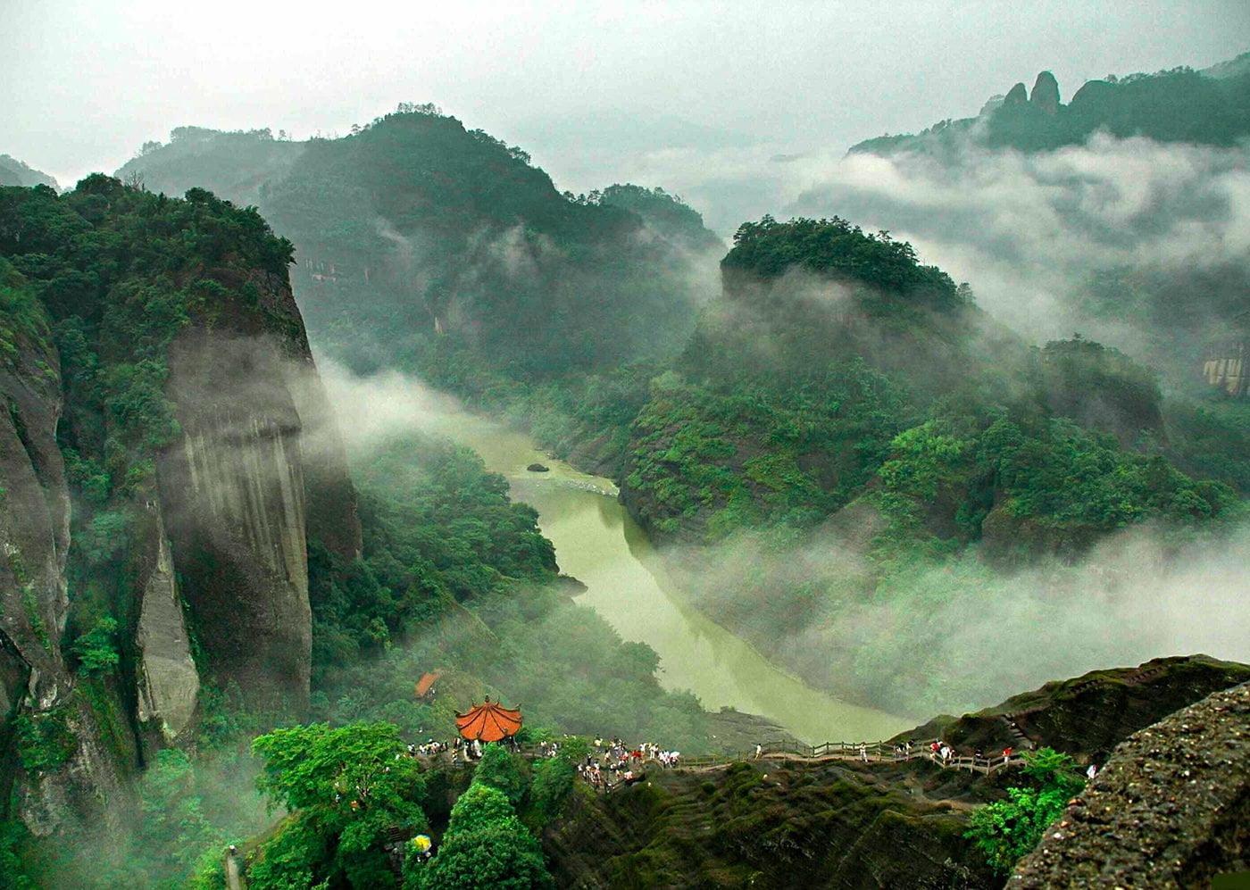 Семейство Да Хун Пао и горы Уишань.