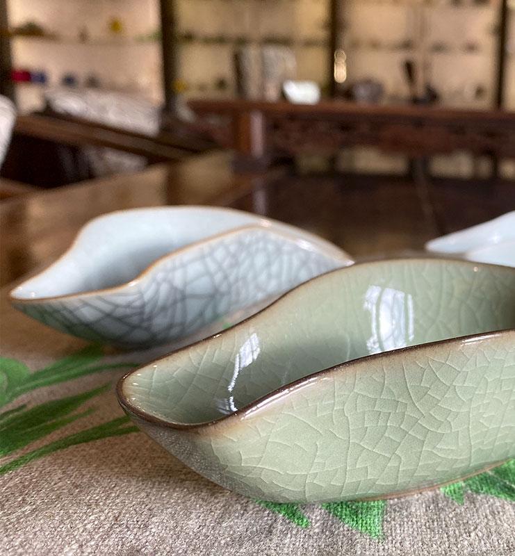Чахэ из фарфора Цин Ци для подачи чая «Цинци птица»  - фото 5