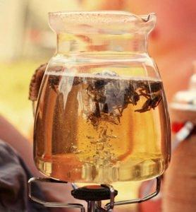 Варка чая на огне