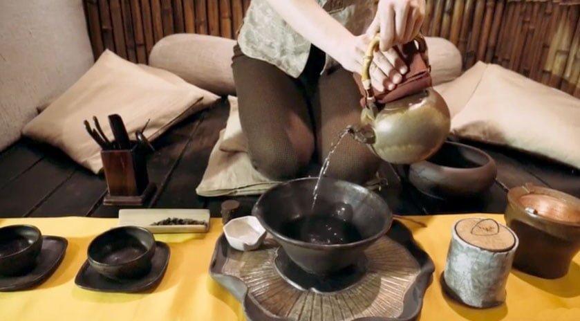 video tan tea - Чаепитие династии Тан