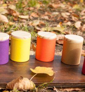 Баночки для хранения чая с деревянной крышкой  - фото