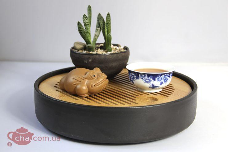 Чабань круглая керамическая  - фото 4