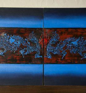 Картина «Драконы с жемчужиной»  - фото