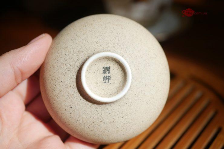 Чашки глазированный фарфор с Лотосом 45мл  - фото 5