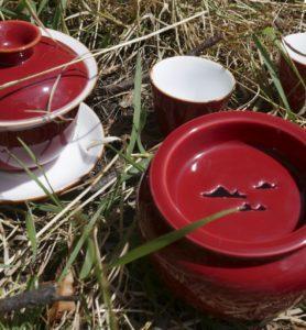 Сервиз фарфоровый с красной глазурью «Сердце чая»  - фото 2
