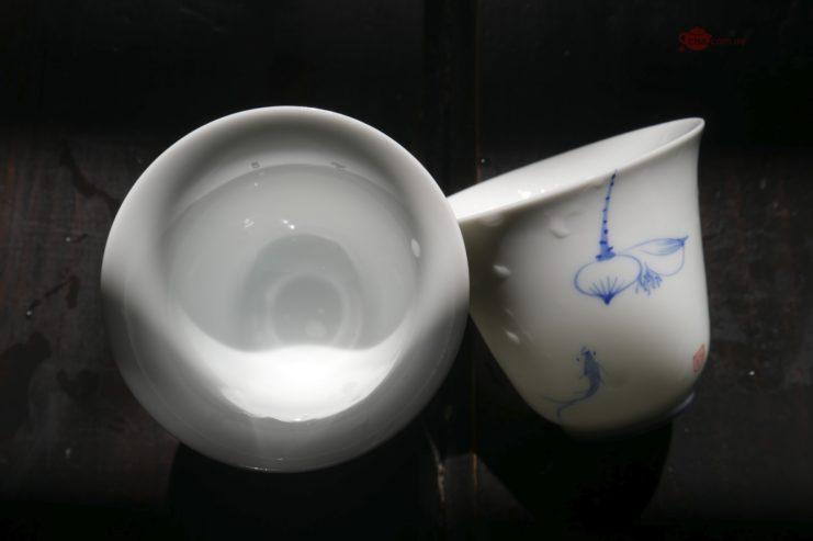 Чашка цзиньдэчженьский фарфор «Лотос и рыбка»