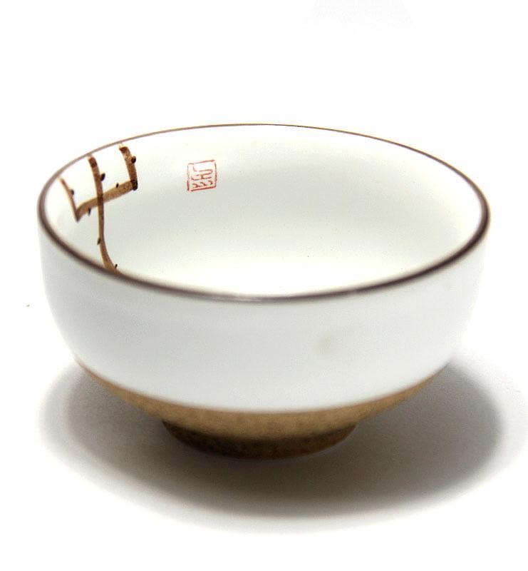 Чашки глазированный фарфор с Лотосом 45мл  - фото 6