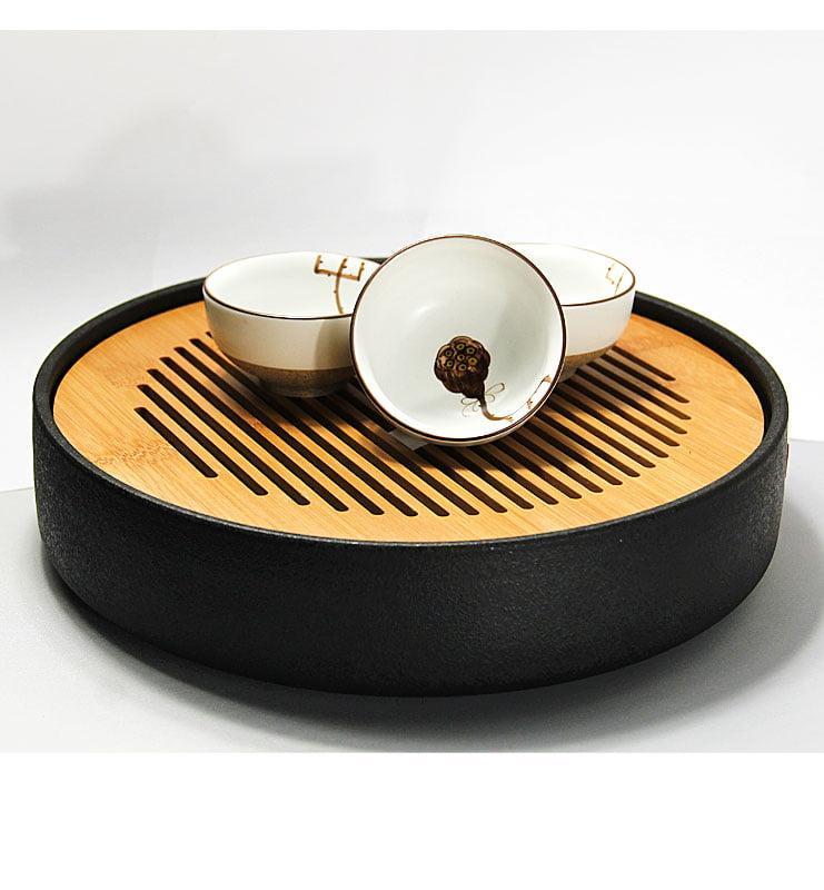 Чашки глазированный фарфор с Лотосом 45мл  - фото 7