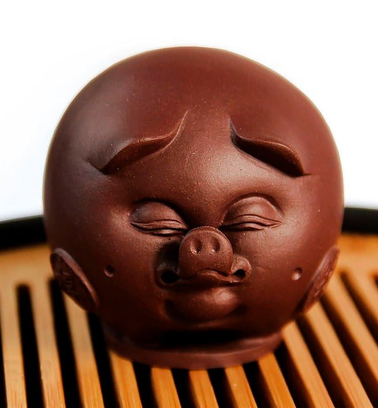 "fgthfhghnfgh 21 - Чашень ""Хрюся"", чайная фигурка свиньи из глины"
