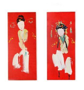 Картина диптих «Восточные красавицы»  - фото