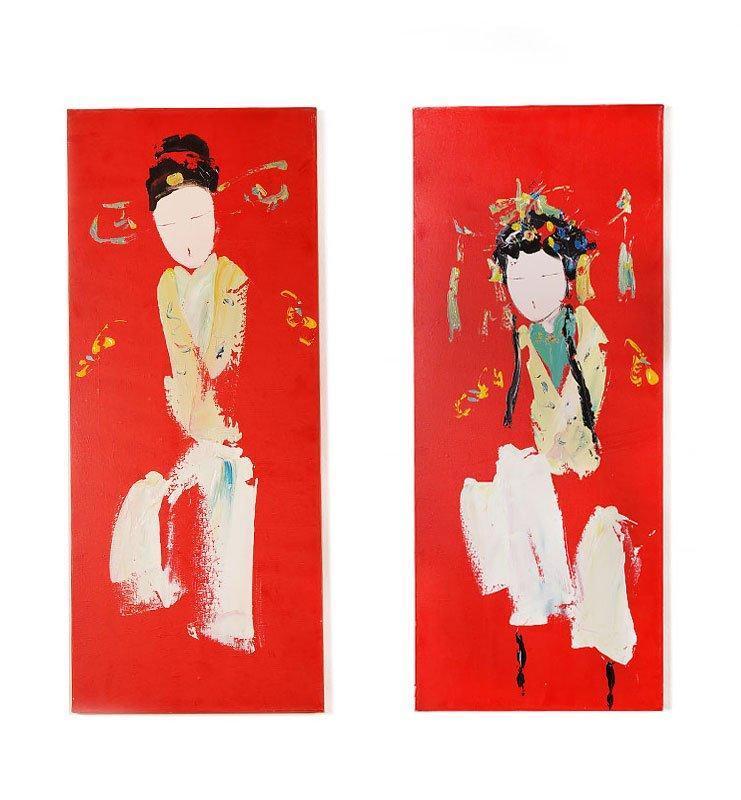 Картина диптих «Восточные красавицы»