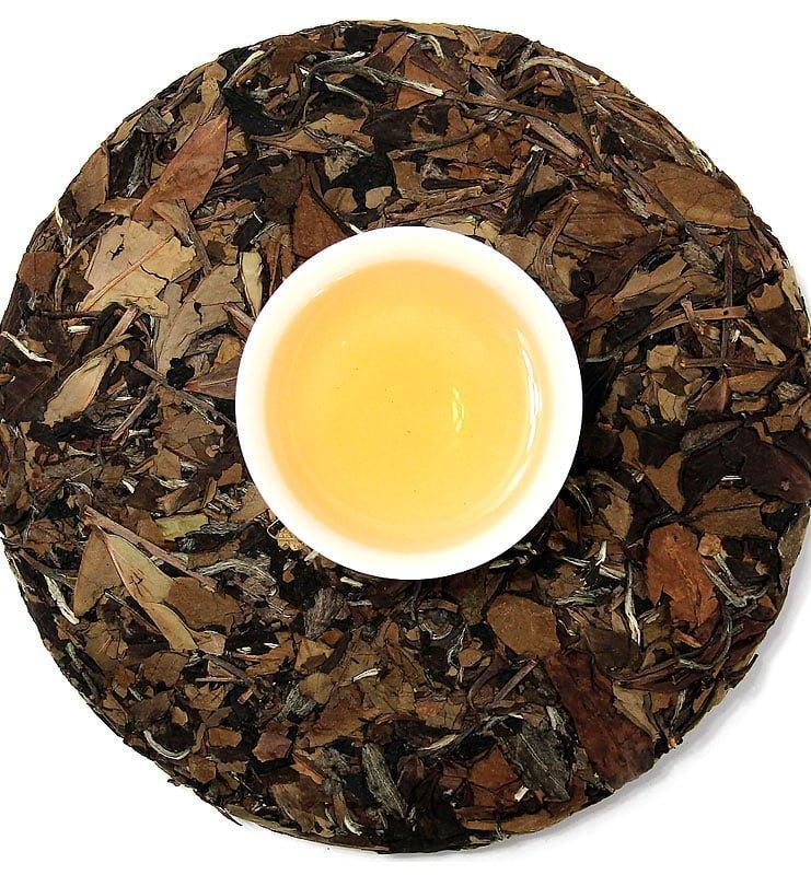 Лао Чжень Хэ Бай Ча белый прессованный чай (№1000)  - фото 3