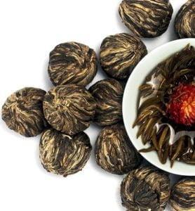 Моли Хай Бэй Ту Чжу связанный чай с жасмином №400  - фото