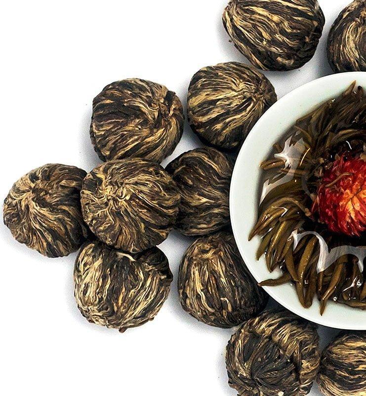 moli xai bei tu zhu 400 1 - Моли Хай Бэй Ту Чжу связанный чай с жасмином (№400)