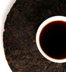 Ци Цзы Бин из Дунхая, выдержанный чай Шу Пуэр 2009 год №450