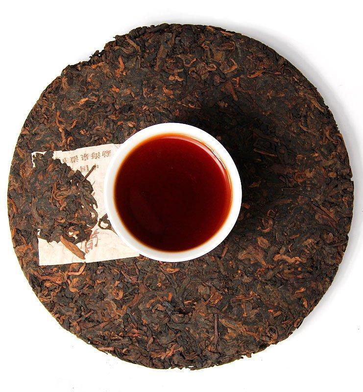 Шу Пуэр «Хон Дин Тао» прессованный чай (№800)  - фото 6