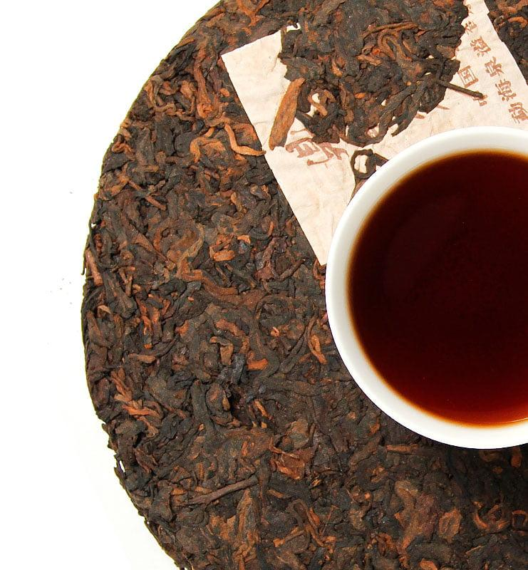 Шу Пуэр «Хон Дин Тао» прессованный чай (№800)  - фото 4