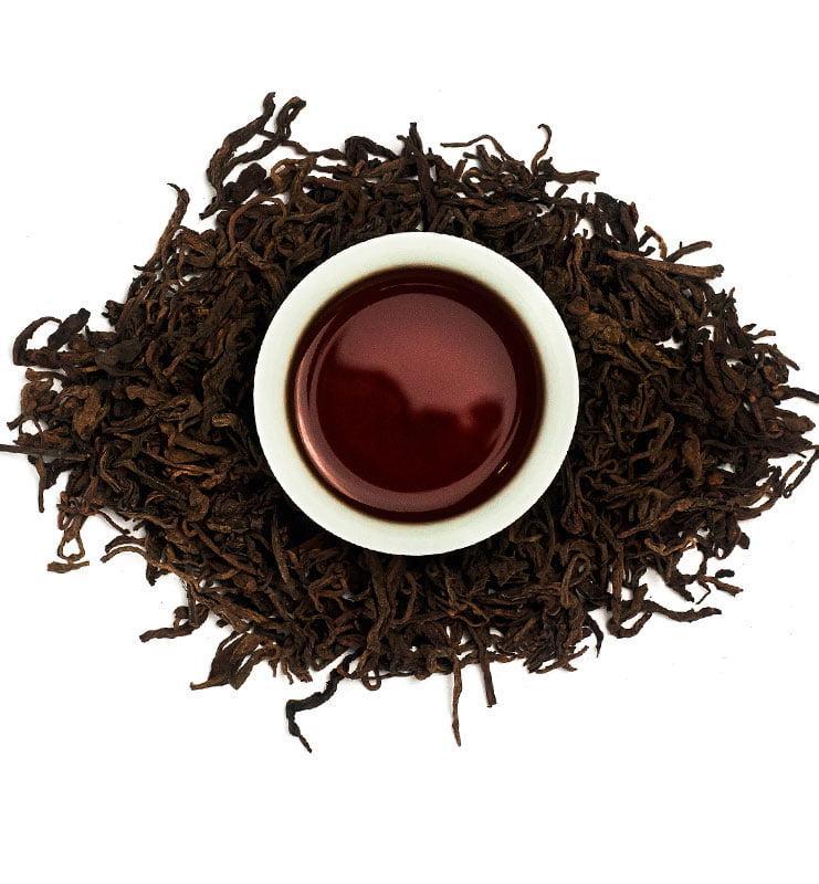 Лао Шу Пуэр, выдержанный рассыпной чай Шу Пуэр №1600
