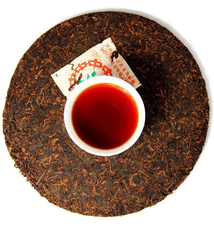 Шу Пуэр «Шуй Лянь Инь» выдержанный чай 2002г (№2000)  - фото 6