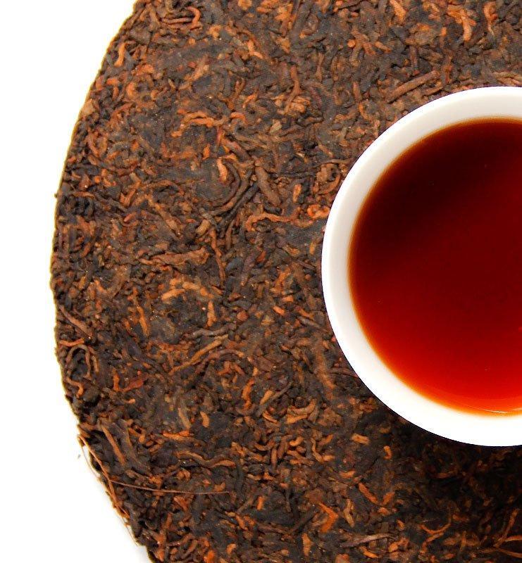Шу Пуэр «Шуй Лянь Инь» выдержанный чай 2002г (№2000)  - фото 4