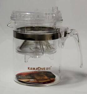 Заварник с ситом (teapot) 300мл.  - фото