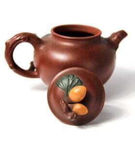 """Чайник из исинской глины """"Гинкго Билоба"""""""