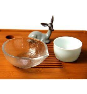 Чахэ для подачи чая из стекла «Матовый лист»