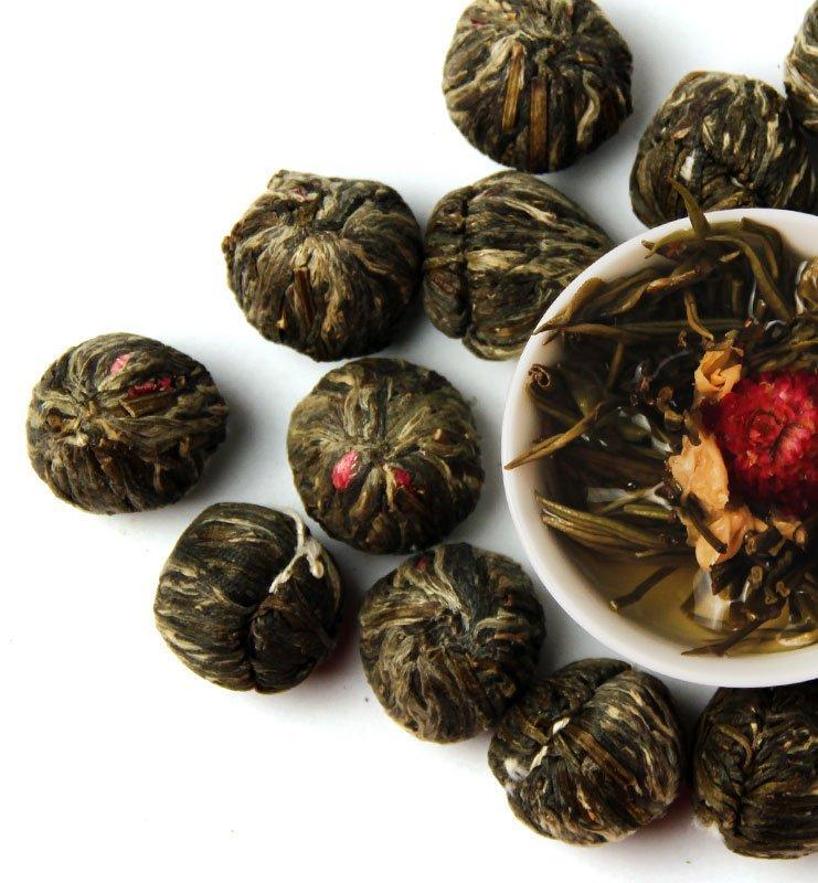 Моли Хуа Кай Фу Гуй связанный чай с жасмином №400  - фото