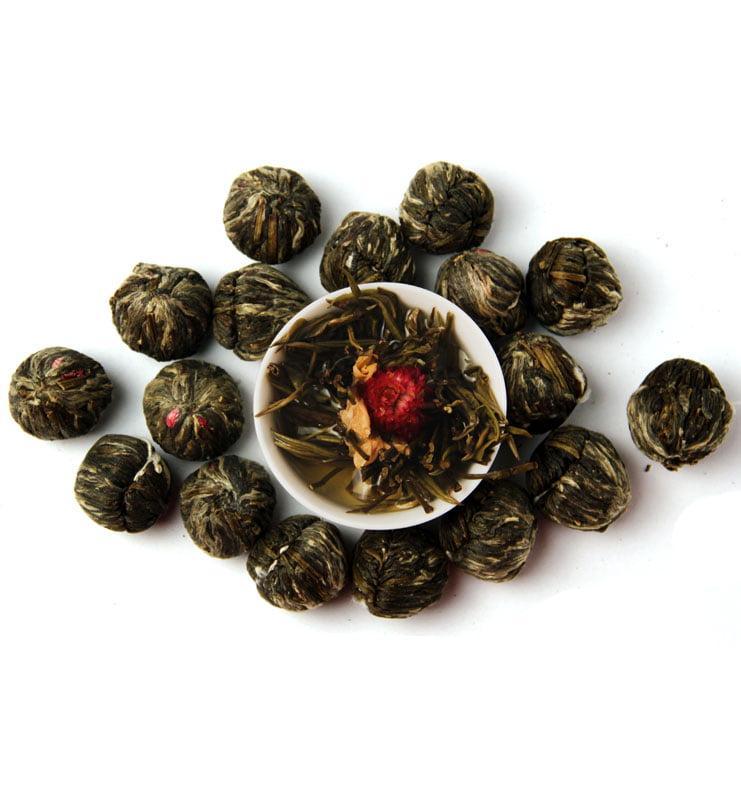 Моли Хуа Кай Фу Гуй связанный чай с жасмином №400  - фото 4