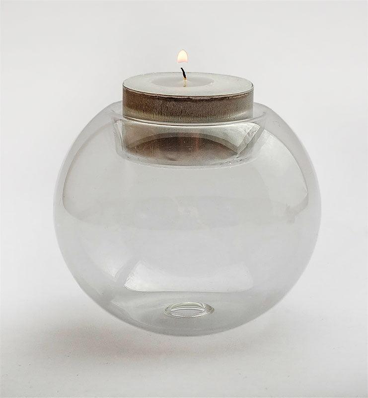 Стеклянный шар подсвечник, ваза  - фото 3