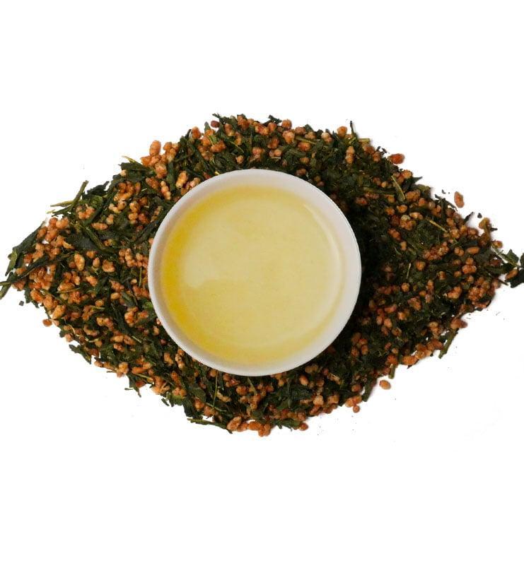genmai cha 4 - Генмайча, японский зеленый чай (№180)