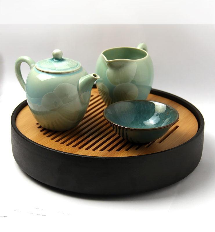 Тайваньский фарфоровый чайник с кристаллами  225 мл  - фото 2