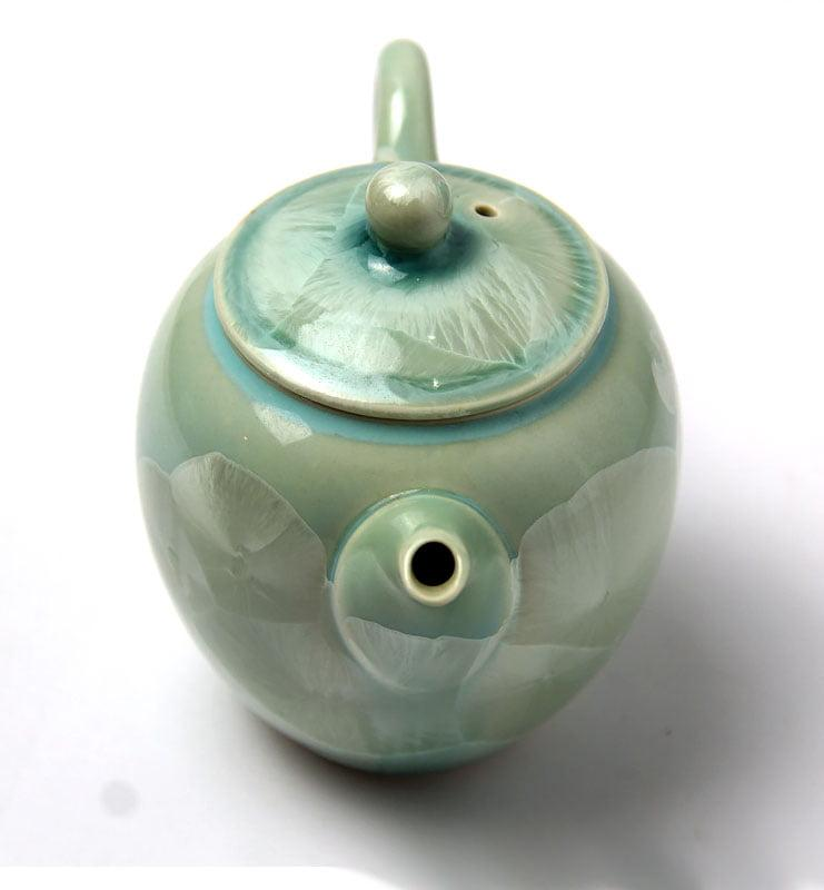 Тайваньский фарфоровый чайник с кристаллами  225 мл  - фото 4