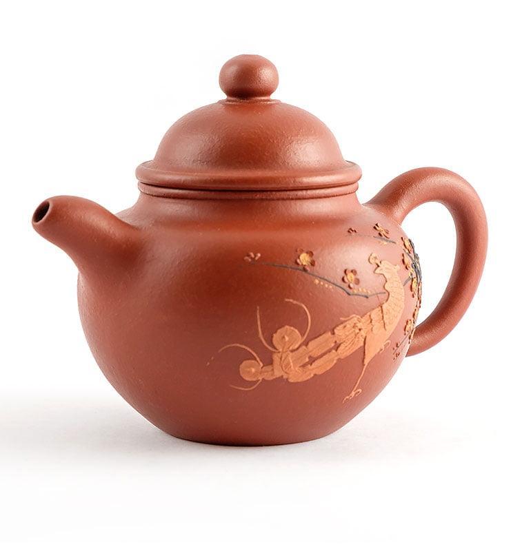 Чайник из исинской глины До Цю «Павлин», 175 мл  - фото