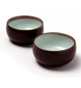 Чашки керамические «Вишневая глазурь»