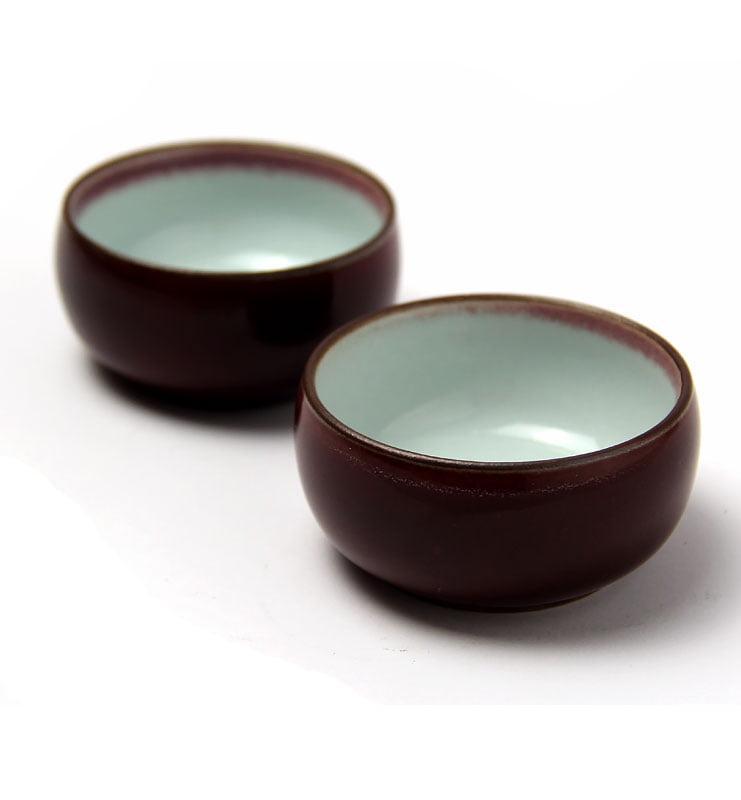 Чашки керамические «Вишневая глазурь»  - фото