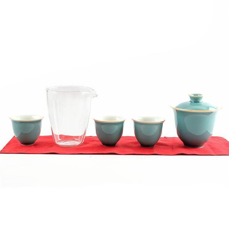 Сервиз чайный дорожный цвета Цин  - фото 3