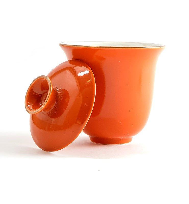 Сервиз чайный дорожный из фарфора цвета хурмы  - фото 4