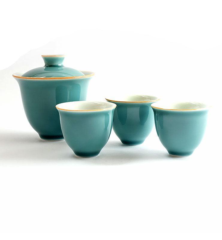 Сервиз чайный дорожный цвета Цин  - фото 2