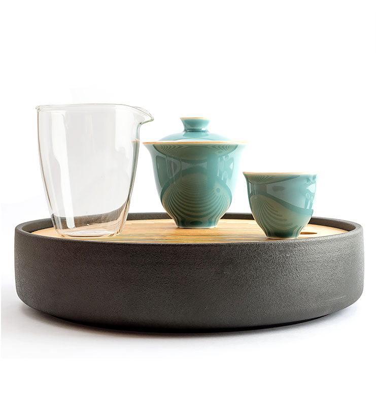 Сервиз чайный дорожный цвета Цин  - фото