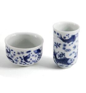 Чашки для чая, Чайная пара «Зеркальные карпы»  - фото