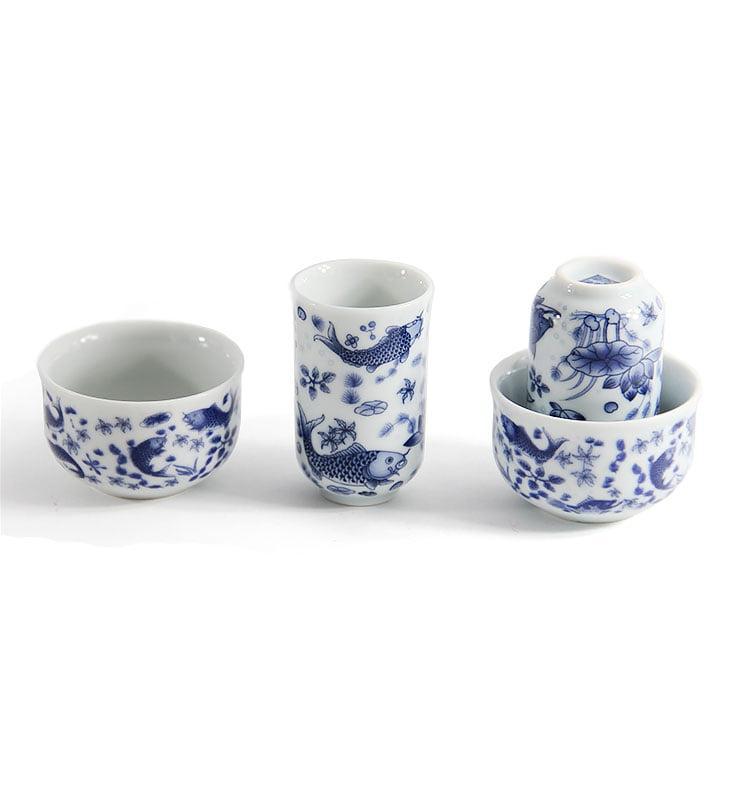"para 8 - Чашки для чая, Чайная пара ""Зеркальные карпы"" 40мл"