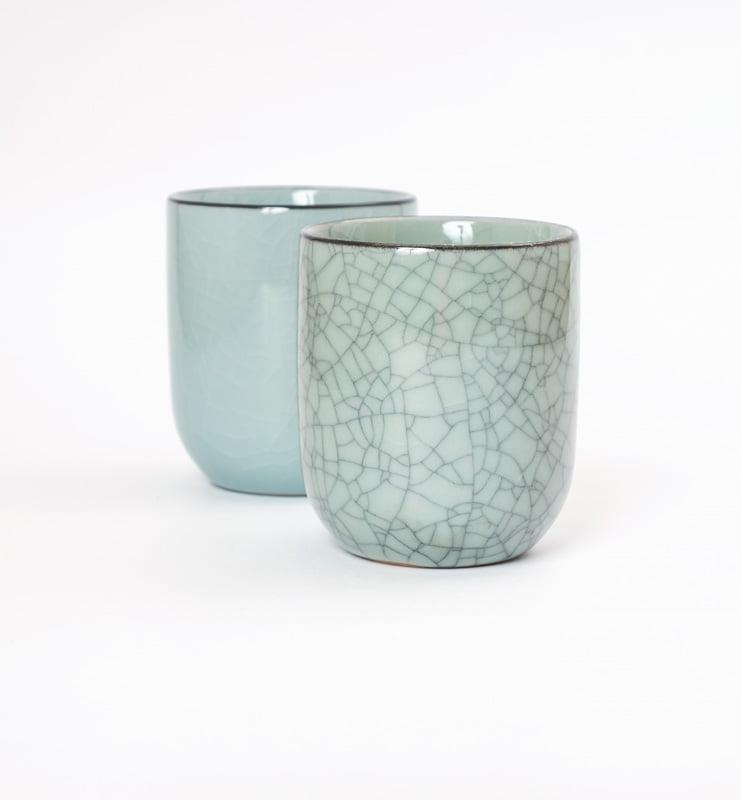 Чашки Цин Ци (селадон) из Лунцюаня  - фото